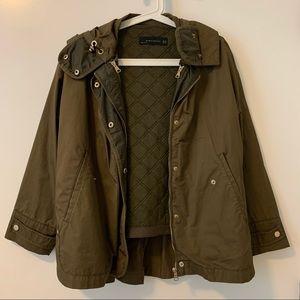 Zara Military Green Oversized Jacket